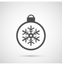 Icon christmas snowflakes toy for holiday season vector