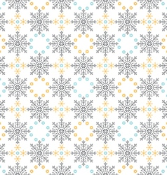 Snow flakes ornament seamless pattern vector