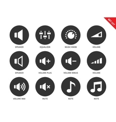 Volome icons on white background vector