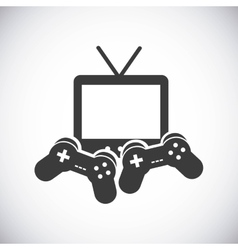 Game control and television icon video game vector