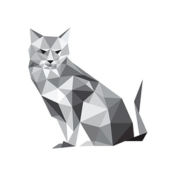 abstract origami cat vector image