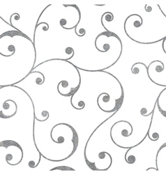 Abstract silver seamless vintage pattern vector