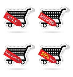 basket label vector image