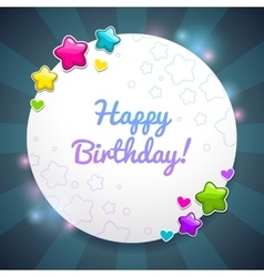 Beautiful birthday card template vector