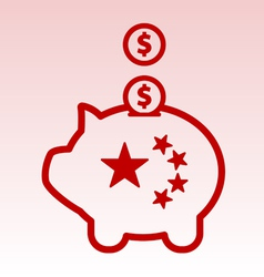 China and United States debt vector image