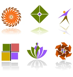 Colorful abstract design elements vector image vector image