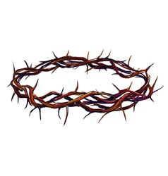 crown of thorns hand drawn vector image vector image