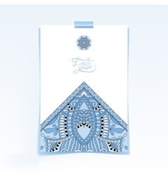 Decorative sheet of paper with blue colour vector