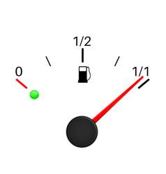fuel gauge full tank vector image