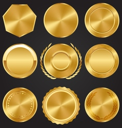 Golden Premium Quality Best Labels Medals vector image vector image