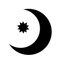 half moon with star con vector image