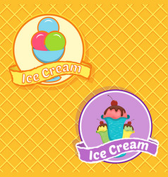 Ice cream logo for company or shop vector