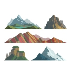Mountain isolated vector image vector image