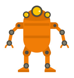 Orange abstract robot icon isolated vector