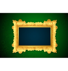 Photo Frame on Wall vector image vector image