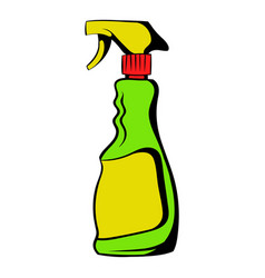 Plastic hand spray bottle icon icon cartoon vector
