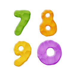 plasticine clay numbers vector image vector image