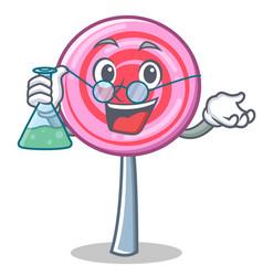 professor cute lollipop character cartoon vector image