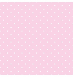 Tile pattern white polka dots on pink background vector image vector image