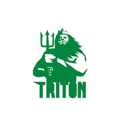 Triton trident isolated retro vector