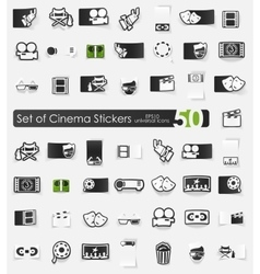 Set of cinema stickers vector