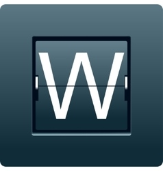 Letter w from mechanical scoreboard vector