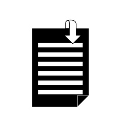 Document with download arrow vector