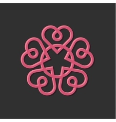 Linear monogram vintage with vector