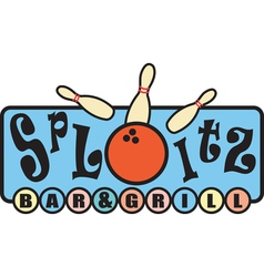 Retro bowling alley signs vector