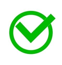 Green check mark vector