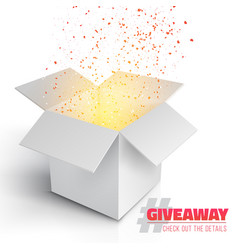 Grey box giveaway competition template vector