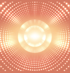 Infinite round tunnel of shining vector