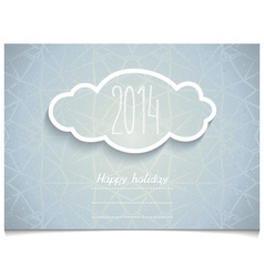 Holiday card with 3d cloud on melange texture vector