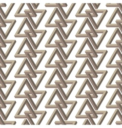 Impossible triangle seamless pattern vector