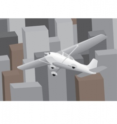 plane over city vector image