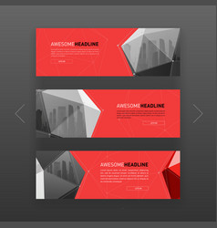 3d lowpoly solid abstract corporate banner design vector image