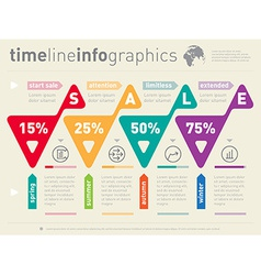 Sale infographic timeline Business web template vector image