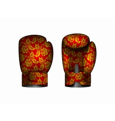 Boxing gloves russia traditional style eps vector