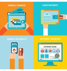 Online and mobile banking vector