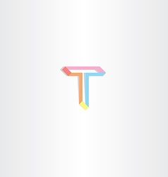 Letter t t icon vector