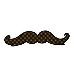 Comic cartoon mustache vector