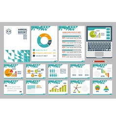 Annual report cover a4 sheet and presentation vector