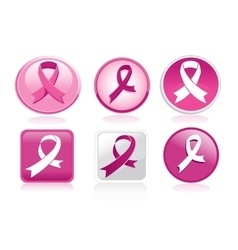 Breast cancer ribbon pack vector