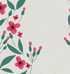 Floral pattern seamless doodle flowers vector