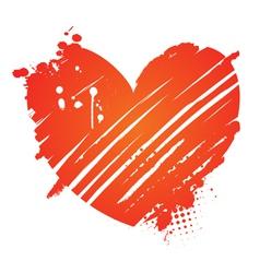 grunge heart valentine vector image