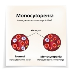 Monocytes below the normal range in the blood vector