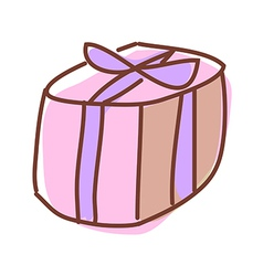 A box is placed vector image vector image