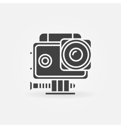 Action camera icon vector