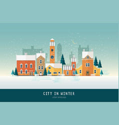 beautiful urban landscape or cityscape with vector image vector image