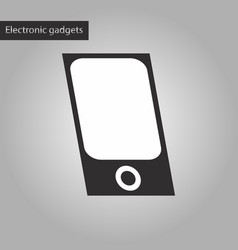 Black and white style icon mp3 player vector